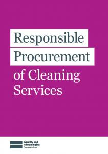 Responsible Procurement of Cleaning Services