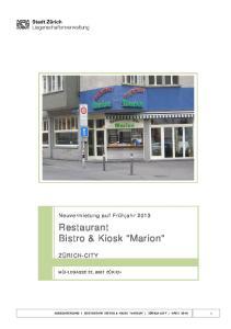 Restaurant Bistro & Kiosk