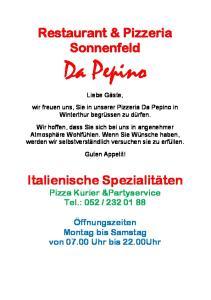 Restaurant & Pizzeria Sonnenfeld