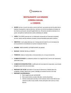 RESTAURANTE 116 GRADOS COMIDA CASUAL