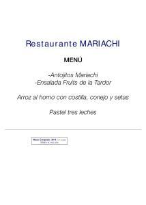 Restaurante MARIACHI