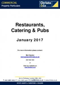 Restaurants, Catering & Pubs