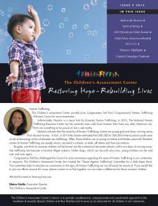 Restoring Hope - Rebuilding Lives