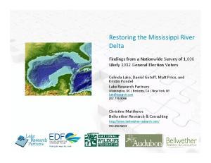 Restoring the Mississippi River Delta