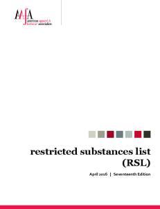 restricted substances list (RSL)