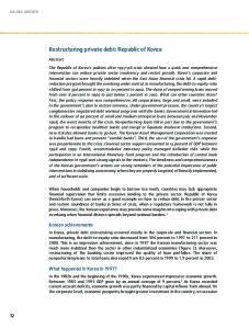 Restructuring private debt: Republic of Korea