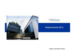 Resultados 2011 Resultados de Febrero 2012