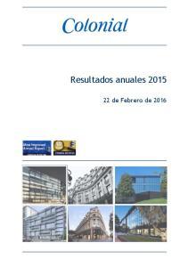 Resultados anuales de Febrero de 2016