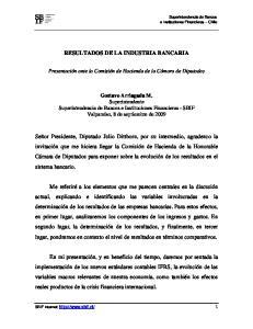 RESULTADOS DE LA INDUSTRIA BANCARIA