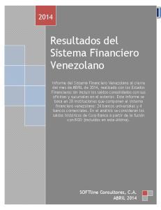 Resultados del Sistema Financiero Venezolano