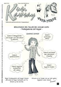 RESULTADOS DEL TALLER DEL HOGAR CAITH - Trabajadoras del Hogar -