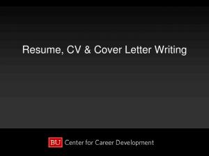 Resume, CV & Cover Letter Writing
