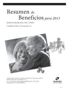 Resumen de Beneficios para 2013