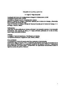 RESUMEN DE CURRICULUM VITAE. Dr. Angel G. Priego Santander