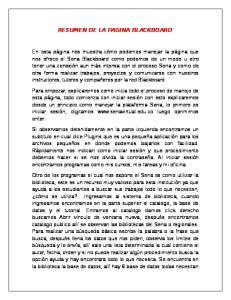 RESUMEN DE LA PAGINA BLACKBOARD