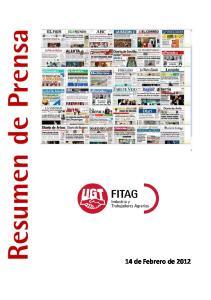 Resumen de Prensa 14 de Febrero de 2012