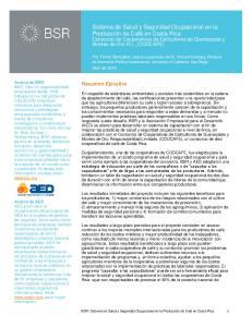 Resumen Ejecutivo. Abril de 2010