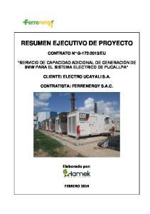 RESUMEN EJECUTIVO DE PROYECTO