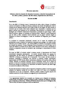 Resumen ejecutivo. Octubre de 2006