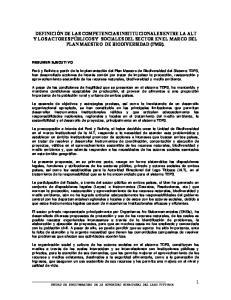 RESUMEN EJECUTIVO UNIDAD DE BIODIVERSIDAD DE LA AUTORIDAD BINACIONAL DEL LAGO TITICACA
