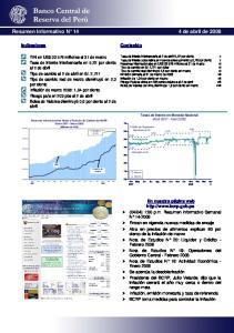 Resumen Informativo N 14 4 de abril de 2008