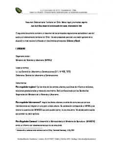 Resumen Ordenamiento Territorial en Chile: Marco legal y normativo vigente