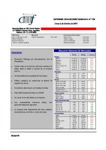 Resumen Semanal de Mercados