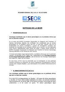 RESUMEN SEMANAL DEL 24 AL 31 DE OCTUBRE NOTICIAS DE LA SEOR