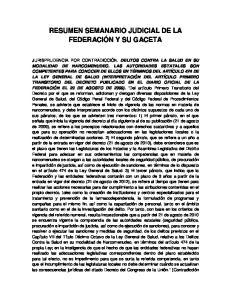 RESUMEN SEMANARIO JUDICIAL DE LA FEDERACIÓN Y SU GACETA