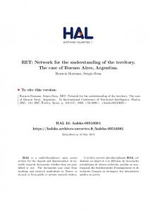 RET: Network for the understanding of the territory. The case of Buenos Aires, Argentina