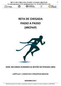 RETA DE CHEGADA PASSO A PASSO (#RCPAP)