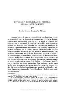RETABLOS Y ESCULTURAS EN AMERICA. NUEVAS APORTACIONES. por