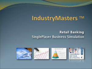 Retail Banking SinglePlayer Business Simulation
