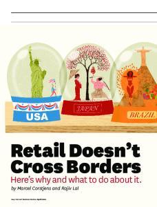 Retail Doesn t Cross Borders