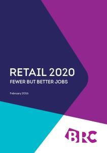 Retail Fewer but better jobs