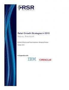 Retail Growth Strategies in 2015 Industry Benchmark