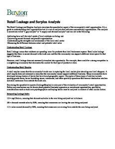 Retail Leakage and Surplus Analysis