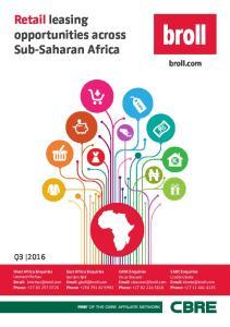 Retail leasing opportunities across Sub-Saharan Africa
