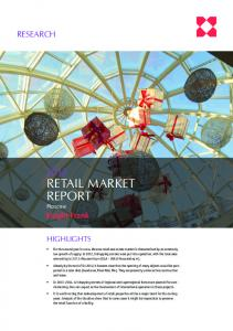 RETAIL MARKET REPORT Moscow. Knight Frank RESEARCH HIGHLIGHTS