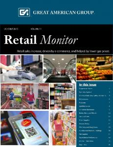 Retail Monitor. October 2015 Retail Monitor