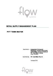 RETAIL SUPPLY MANAGEMENT PLAN PITT TOWN WATER