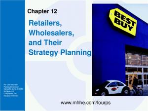 Retailers, Wholesalers, and Their Strategy Planning
