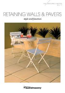 RETAINING WALLS & PAVERS