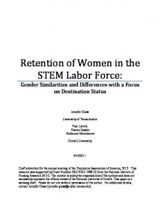 Retention of Women in the STEM Labor Force: