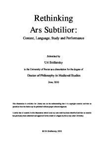 Rethinking Ars Subtilior: