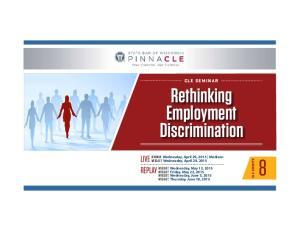 Rethinking Employment Discrimination