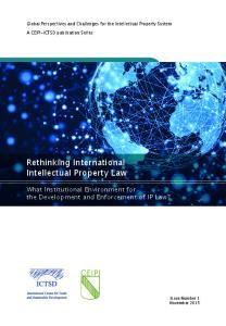 Rethinking International Intellectual Property Law