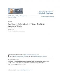 Rethinking Judicialization: Towards a Better Empirical Model