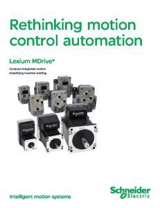 Rethinking motion control automation