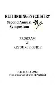 RETHINKING PSYCHIATRY